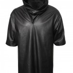 leather cowl shirt